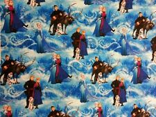 FROZEN FABRIC ELSA ANNA KRISTOFF OLAF FAT QUARTER 50 cm x 56 cm COTTON BUNTING