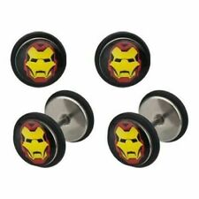 Plug 18 gauge - Sold as a Body Accentz® Earrings Rings Fake Iron Man Cheater