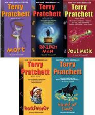 Terry Pratchett Discworld DEATH Series PAPERBACK Collection Set of Books 1-5