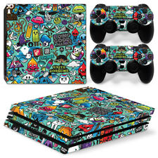 Sticker Bomb PS4 Pro Protective Skin Stickers Console & 2 Controllers - 0869