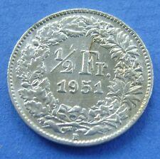 Zwitserland - Switzerland  1/2 Franc 1951