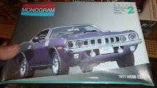 MONOGRAM 1971 PLYMOUTH HEMI CUDA 1991 1/24 Model Car Mountain KIT FS