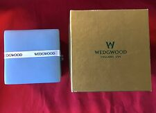 "Perfect New In Box Old Stock Wedgwood 4"" Blue Jasperware Trinket Box Free Ship!"