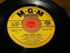 CONNIE FRANCIS SINGS - EP MGM 720 - UK PRESS - LISTEN / ROCK GIRL POPCORN