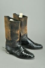 British Army Offrs' 1950s' Well Worn s11.5 Parade Mess Dress Boots w/ Spurs. XMZ