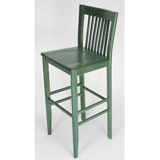 Constance Wood Barstool in Green