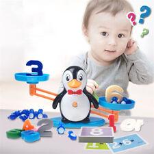 Penguin Digital Balance Scale Math Operation Match Game Educational Kids DIY Toy