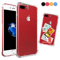 For iPhone 7 8 Plus Crystal Clear Soft TPU Shockproof Bumper PC Hard Back Case