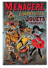 Carte postale publicité A la Ménagère Etrennes utiles Jouets Français F. Nugeron
