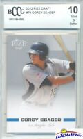 2012 Leaf Rize Draft #79 Corey Seager Limited Edition ROOKIE BECKETT 10 MINT
