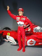 MICHAEL  SCHUMACHER  1/18  UNPAINTED  FIGURE   BY  VROOM  FOR  FERRARI  MATTEL