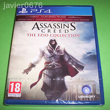 ASSASSINS CREED THE EZIO COLLECTION NUEVO PRECINTADO PAL ESPA�'A PLAYSTATION PS4