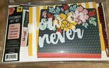 3birds Design Stationary Gift Set New Pouch Stickers Planner Notebook Pen Book