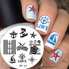 Nagel Schablone Nail Art Stamp Stamping Template Plates BORN PRETTY 33
