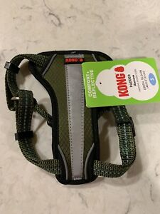 KONG Reflective Dog Puppy Harness ARMY Green Small
