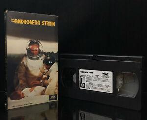 The Andromeda Strain VHS Tape Michael Chrichton ET Epidemic 1970 Sci-Fi Classic