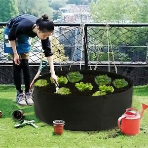 Raised Garden Bed Grow Container Round Vegetables Planting Bag Pot 15-100 Gallon
