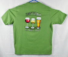 """Tommy Bahama Relax """"Red White & Brew""""  Graphic Tee Shirt Size Large"""