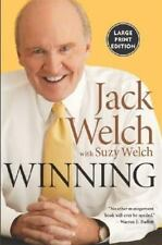Winning Paperback Book by Jack Welch Suzy Welch Large Print Edition business