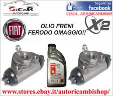 KIT 2 CILINDRETTI FRENO DX E SX + 500ML FERODO OLIO FRENI FIAT PANDA - 600 - UNO