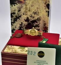Ladies 18K Gold Rolex Datejust Wristwatch Ref 69178 with Box and Papers