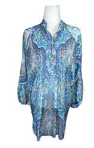 Lauren Ralph Lauren Blouse 1X  Womens Top Shirt Sheer Floral Pullover Popover