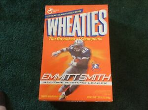 Wheaties Emmitt Smith Rushing Leader Cereal Box Sealed Unopened