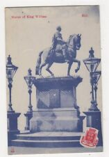Statue of King William Hull Yorkshire Vintage Postcard 460a