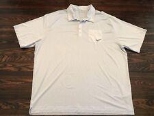 Nike Golf Polo Men's XXL 2XL Fit Dry Dri Vented Light Pale Blue