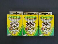 3 Boxes Crayola Crayons MULTICULTURAL 24 Pack -Colors of The World - NEW