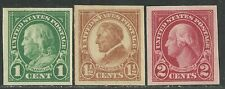 U.S. Stamps Scott 575, 576, & 577 - Imperforate issues of 1923-25 - mnh set #20