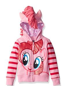 New My Little Pony Hoodie Pink HOODIE Pinkie Pie 2,3,4,5,6,7 YEARS
