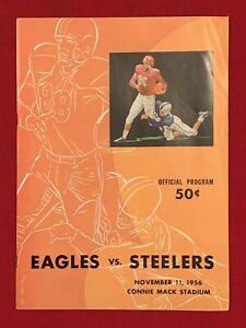 Vintage 1956 Philadelphia Eagles vs Pittsburgh Steelers NFL Football Program Old