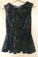 New Look Ladies Blouse Top  8 BNWT Velvet Peplum Evening Party (65)
