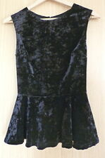 New Look Ladies Blouse Top Size 8 BNWT Velvet Peplum Evening Party (65)