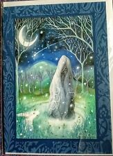 Yule Christmas Greetings birthday card amanda clark standing stone pagan wicca