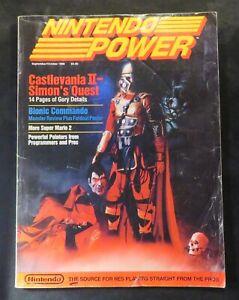 Nintendo Power Magazine #2 NES Castlevania II Simons Quest with Poster 1988 RARE