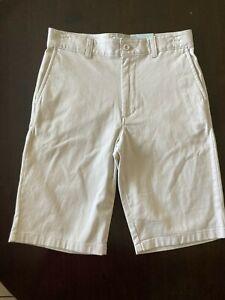 New Shorts Class Club Boys Khaki 16 Adjustable waist Stretch Bermuda Uniform