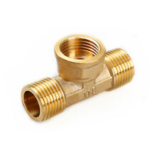 """MFM Brass Pipe Fittings 1/2"""" BSP Male X Female X Male Connector adapters T Type"""