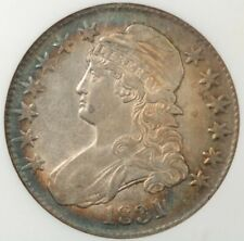 1831 Capped Bust Half Dollar NGC AU55 beautiful color!