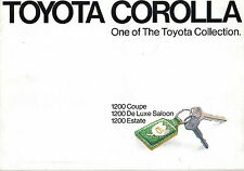 Toyota Corolla KE20 1200 Saloon Estate Coupe 1973-75 original UK Market Brochure