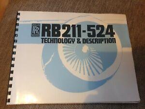 Rolls Royce Rb 211 - 524 Technology + Description 1984