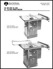 Delta Rockwell 10 Inch Tilting Arbor Unisaw Manual