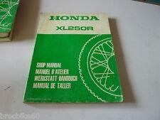 MANUEL REVUE TECHNIQUE D ATELIER HONDA XLR 250 XL R 1984->