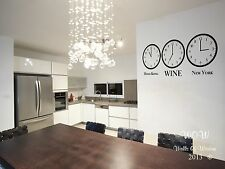 Wall Sticker/Decal Funny Adult Time For Wine Wall Art Home Decor Alcohol/Wine