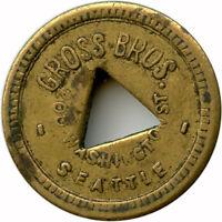 Gross Bros. 200 Washington St. Seattle, WA 5¢ Trade Token