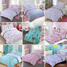 Kids Boys Girls Family Duvet Cover with Pillow Cases Single Double Bedding Sets