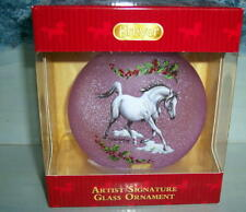 BREYER CHRISTMAS ARTIST SIGNATURE GLASS ARABIAN HORSE  ORNAMENT 2018  #700822