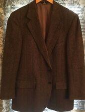 Polo University 38R British Wool Brown Herringbone Jacket 2 BTN Blazer - PERFECT