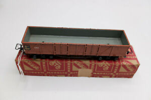 Märklin H0 331 sehr alter 4-achsiger Gusswagen rotbraun i. Oberteil der OVP